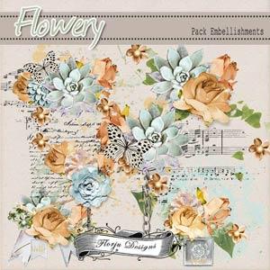 Flowery { Embellishment PU } by Florju Designs