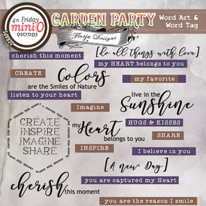 Garden Party { Word Art PU } by Florju Designs