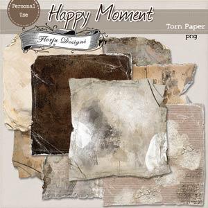 Happy { Torn Paper Pu} by Florju Designs