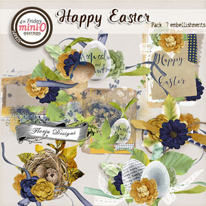 Happy Easter { Embellishments PU } by Florju Designs
