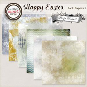 Happy Easter { Paper pack 2 PU } by Florju Designs