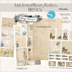 Junk Journal Beauty Restless [Bonus PU ] by Florju Designs