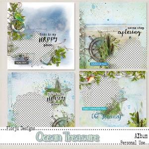 Ocean Treasure { Album PU } by Florju Designs
