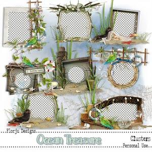 Ocean Treasure { Cluster PU } by Florju Designs