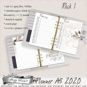 Planner A5 { Calendar Pack 1 PU } by Florju Designs