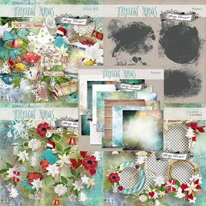 Tropical Xmas { Bundle PU } by Florju Designs