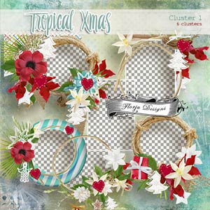 Tropical Xmas { Cluster PU } by Florju Designs