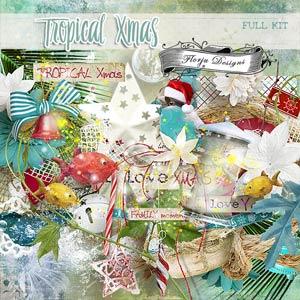 Tropical Xmas { Full Kit PU } by Florju Designs