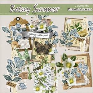 Botany Summer { Embellishment PU } by Florju Designs