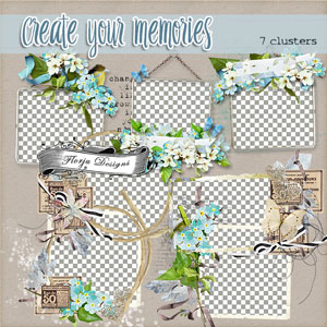 Create Your Memories  Cluster PU by Florju Designs