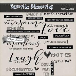 Favorite Memories { Word Art PU } by Florju Designs