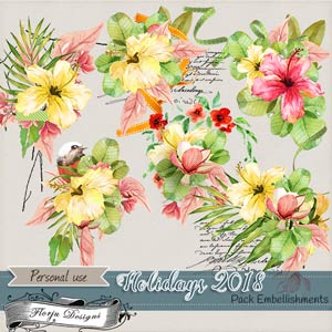 Holidays 2018 { Embellishments PU } by Florju Designs