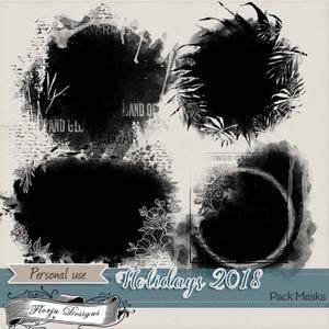 Holidays 2018 { Masks PU } by Florju Designs