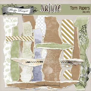 Nature [ Torn Papers PU ] by Florju Designs