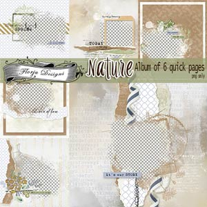 Nature [ Album of 6 quick pages PU ] by Florju Designs