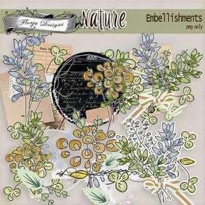 Nature [ Embellishments PU ] by Florju Designs