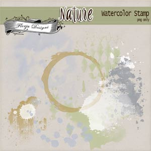 Nature [ Watercolor Stamp PU ] by Florju Designs