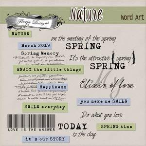 Nature [English Word Art PU ] by Florju Designs