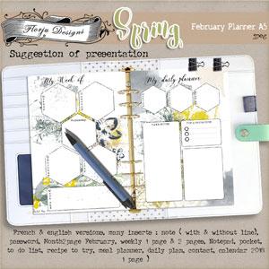 Spring {Planner A5 PU} by Florju Designs