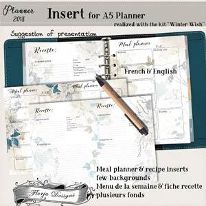 Planner 2018 Winter Wish Insert by Florju Designs