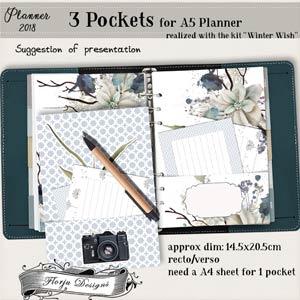 Planner 2018 Winter Wish Insert Pocket by Florju Designs