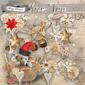 Xmas Time Embellishments by Florju Designs