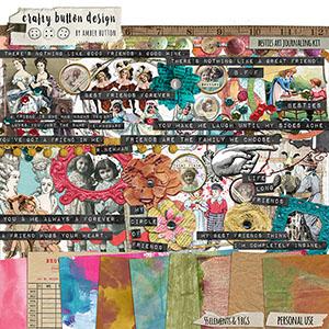 Besties Art Journaling Kit WITH FREE OVERLAY PACK!