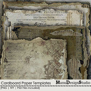 Cardboard Paper Templates