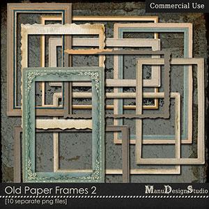 Old Paper Frames 2 - CU