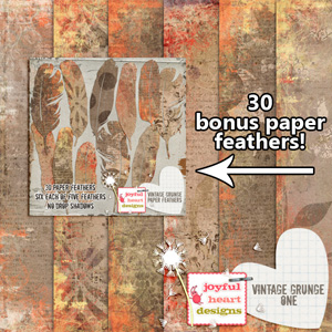 Vintage Grunge (papers & paper feathers)