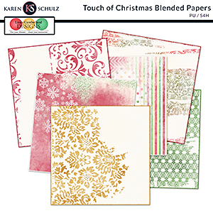 Touch of Christmas Blended Papers by Karen Schulz and Linda Cumberland