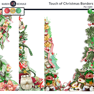 Touch of Christmas Borders by Karen Schulz and Linda Cumberland