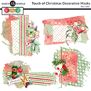 Touch of Christmas Decorative Masks by Karen Schulz and Linda Cumberland