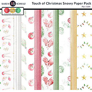Touch of Christmas Snowy Papers by Karen Schulz and Linda Cumberland