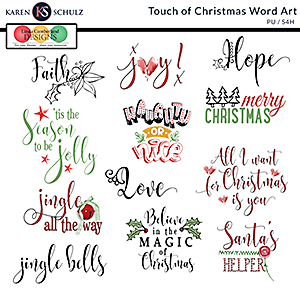 Touch of Christmas Word Art by Karen Schulz and Linda Cumberland