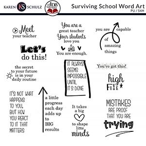Surviving School Word Art