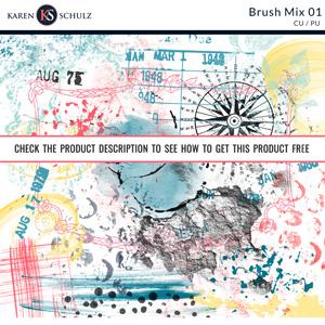 Brush Mix 01 by Karen Schulz