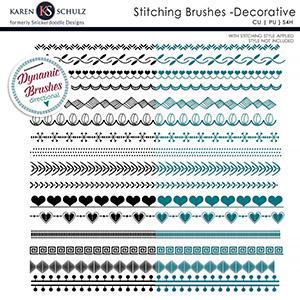 Stitching Brushes Decorative