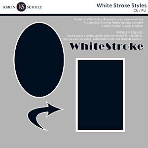 White Stroke Styles