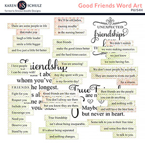 Good Friends Words