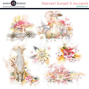 Harvest Sunset II Accents