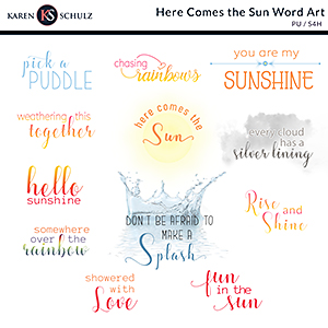 Here Comes the Sun Word Art