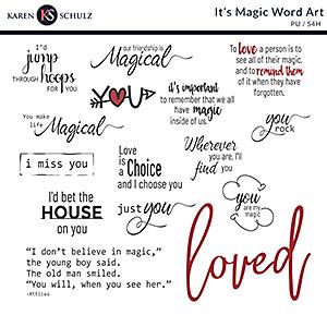 It's Magic Word Art