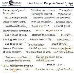 Live Life on Purpose Word Strips