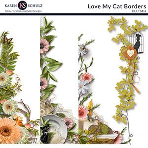 Love My Cat Borders