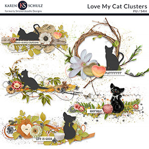 Love My Cat Clusters