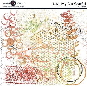 Love My Cat Graffiti