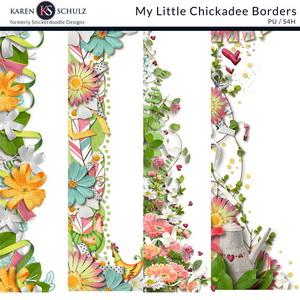 My Little Chickadee Borders