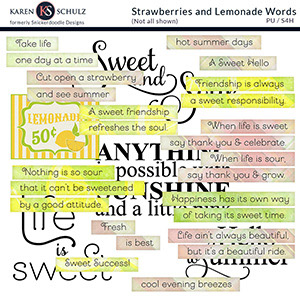 Strawberry Lemonade Words