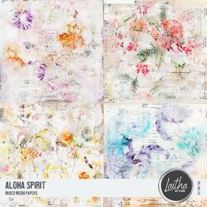 Aloha Spirit - Mixed Media Papers